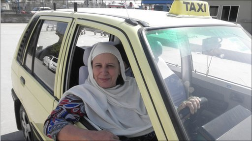 First Female Taxi Driver in Pakistan