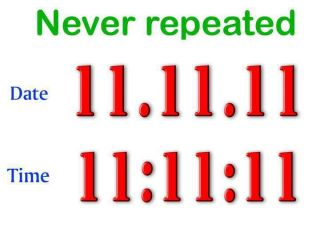 Date-11-11-11 time