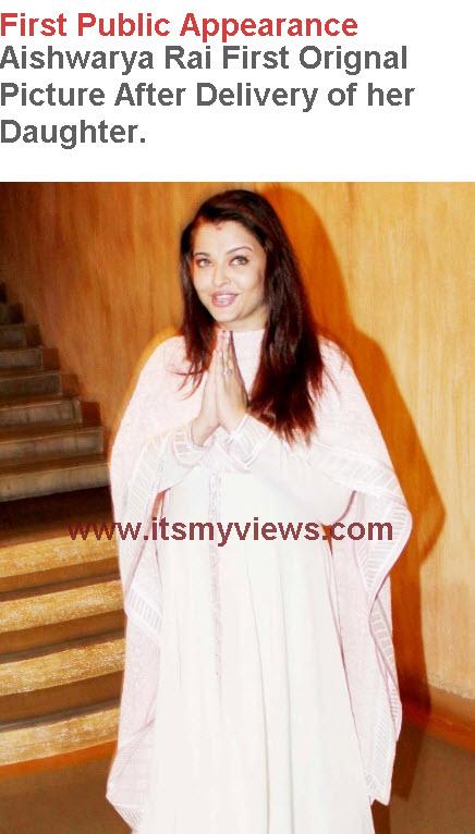 Original Picture of Aishwarya rai baby girl