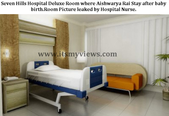 Seven Hills Hospital Deluxe Room where Aishwarya Rai Stay after baby birth.Room Picture leaked by Hospital Nurse.