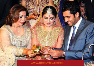 Aisam-ul-Haq Qureshi and Faha Akmal Makhdum wedding picture