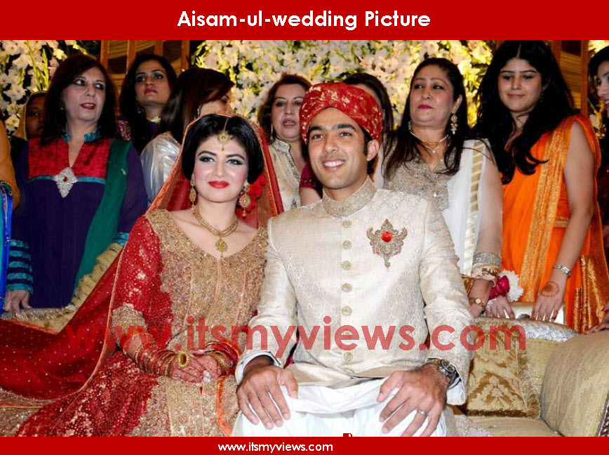 Latest Aisam-ul-haq wedding pictures