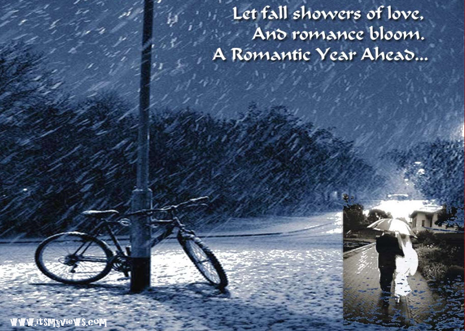 Romantic wallpaper of new year 2012.