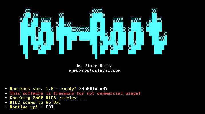 kon boot Window XP cracker