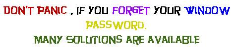 window xp password reset solution