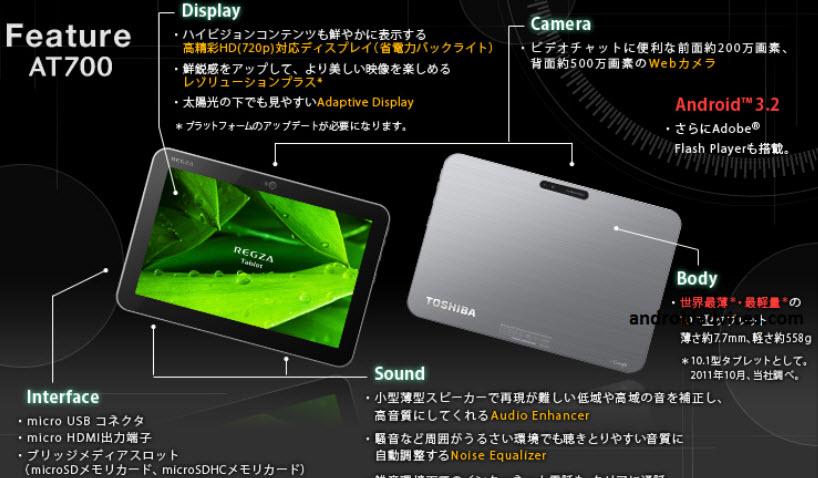 thinnest-tablet-Reggae-Slimmest tablet-Toshiba