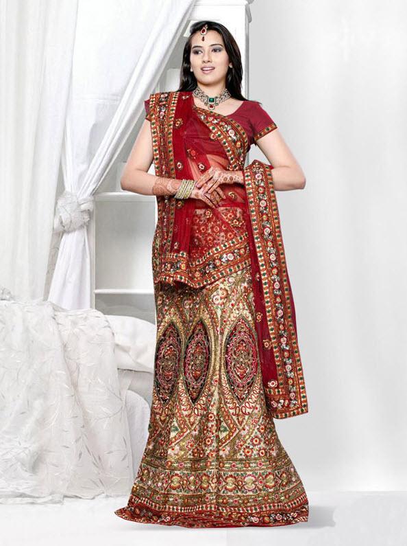 Indian_bridal_dress_style_2012_Lehnga Style