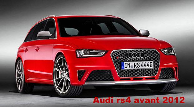 latest model of Audi-rs4-avant 2012