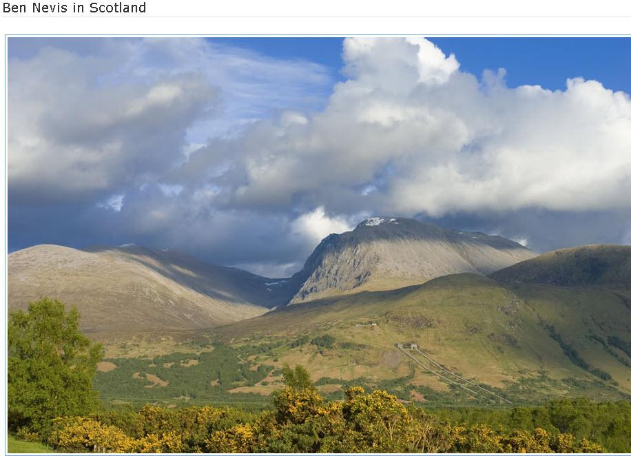 Ben-Nevis in Scotland