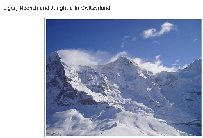 Eiger-Moench-Jungfrau in Switzerland