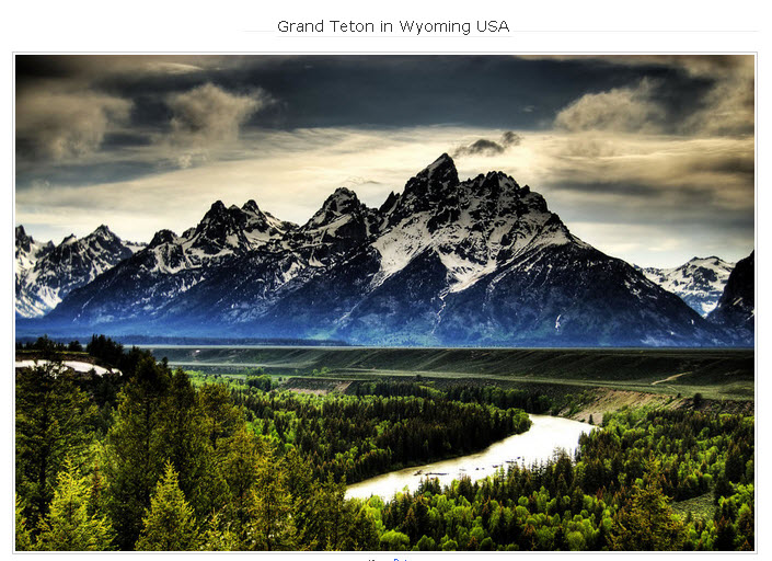 Grand Teton in Wyoming USA