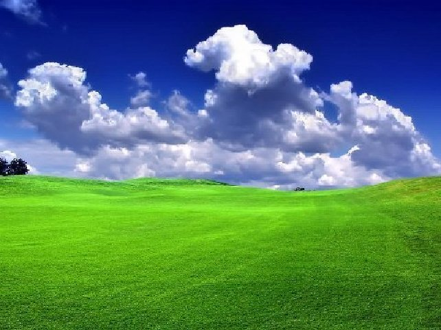 Do Not Call For Black Power Or Green Brain Powerthis Is A Beautiful Blue Color Sky Picture In Which Clouds And Grass Looks