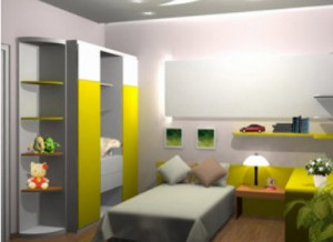 Kids-Room-Decoration-green-color-design