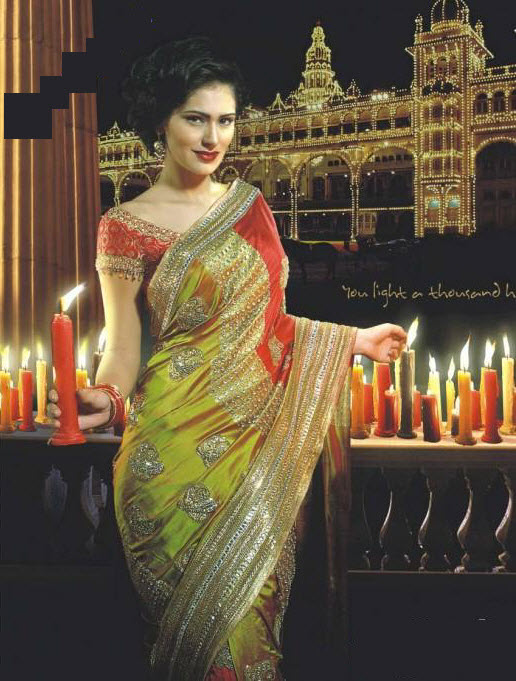 Latest-Saree-Style 2012
