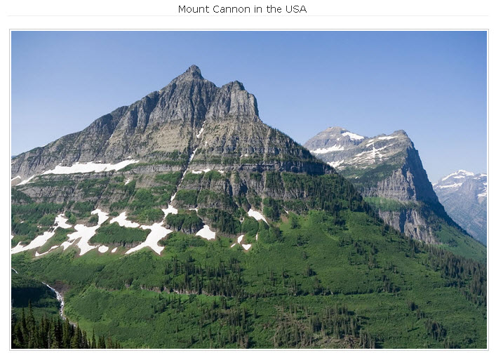 Mount Cannon in the USA