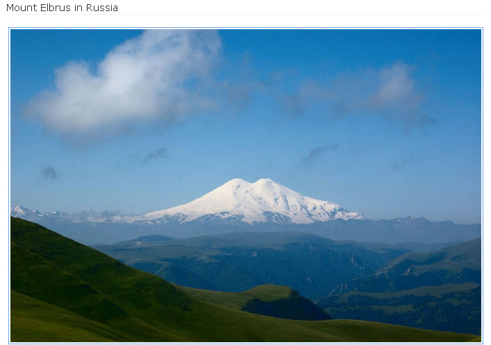 Mount Elbrus in Russia