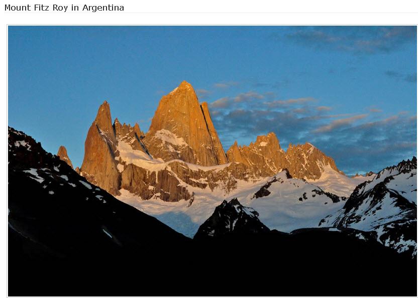 Mount Fitz Roy in Argentina