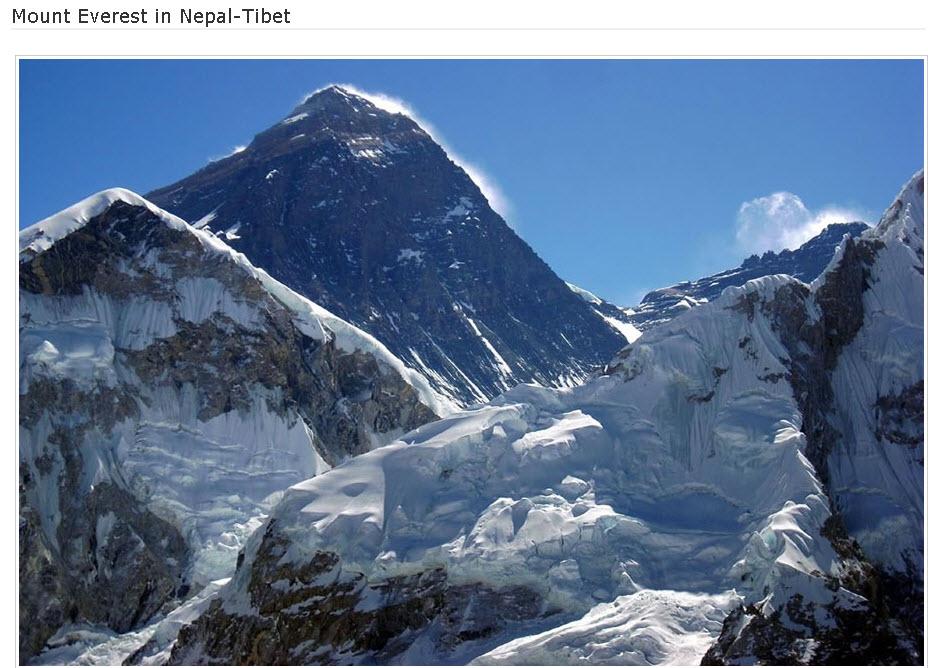 Mount Everest-Nepal-Tibet