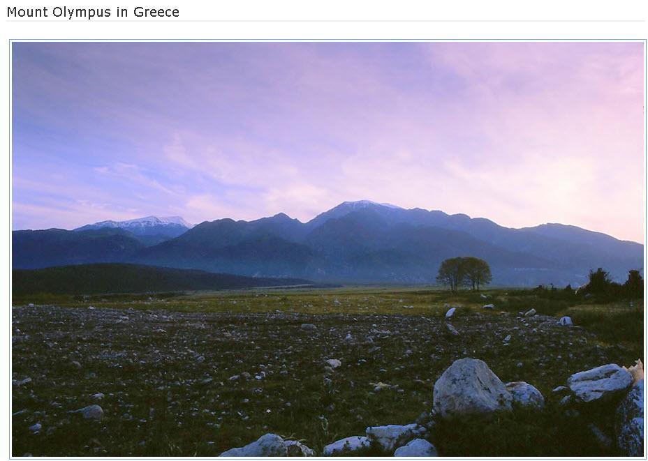 Mountain-Olympus in Greece