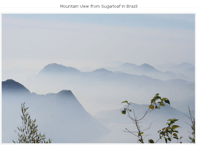 Mountain-Sugarloaf in Brazil