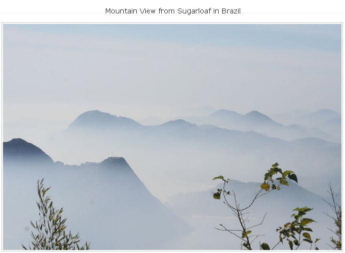 Mountain-Sugarloaf in Brazil