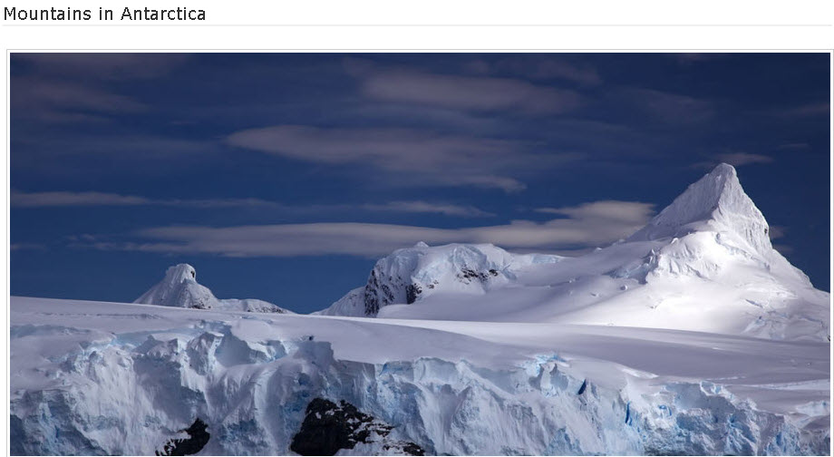 Mountains-Antarctica