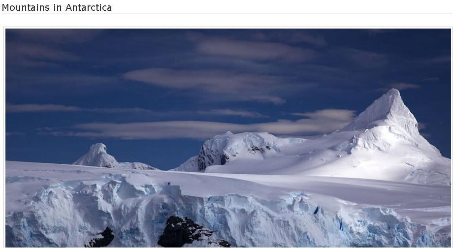 Mountains-Antarctica
