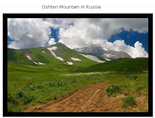 Oshten Mountain in Russia