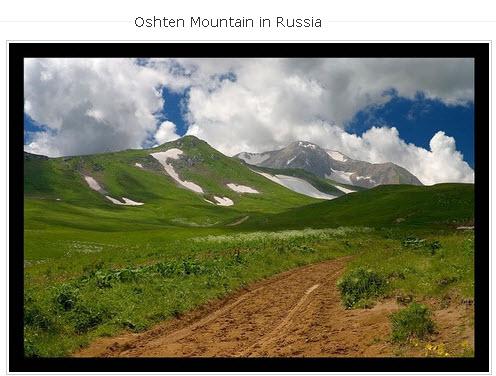 Oshten Mountain in Russia