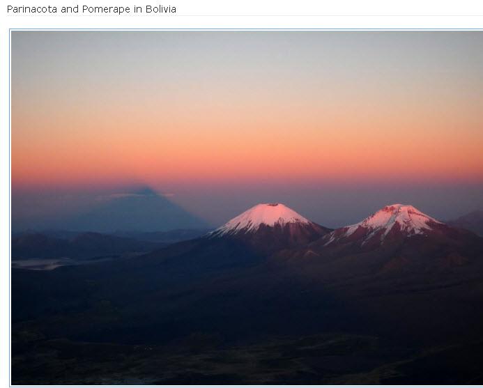 Parinacota and Pomerape in Bolivia
