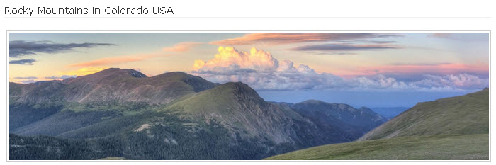 Rocky Mountains in Colorado USA