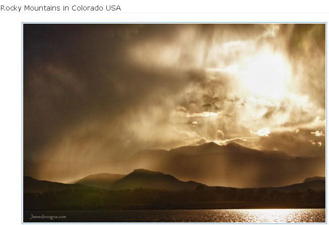 Rocky-Mountains in Colorado USA