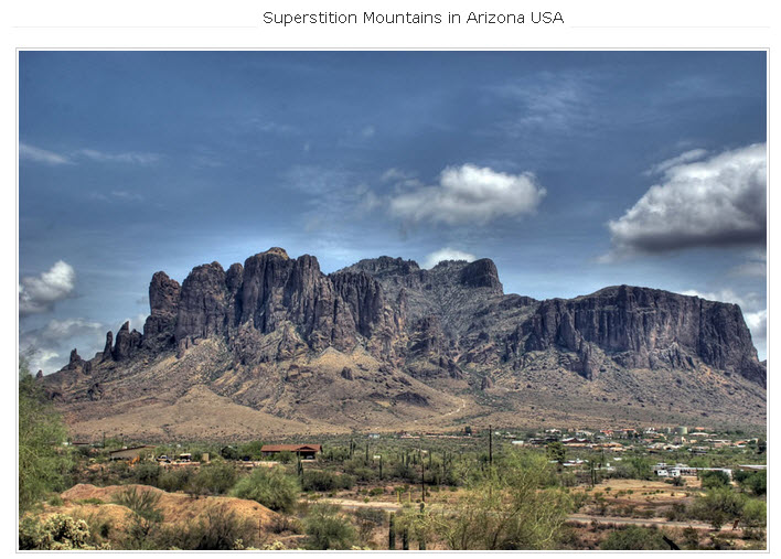 Superstition Mountains in Arizona USA