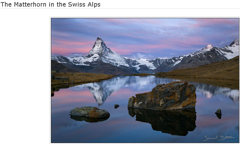 The Matterhorn in the Swiss Alps
