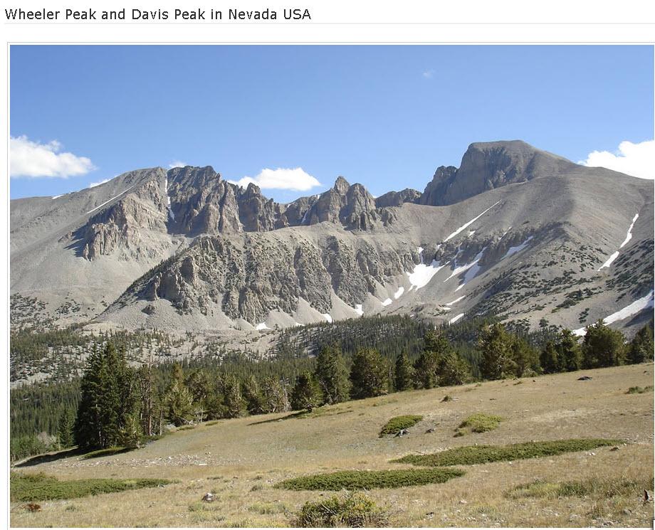 Wheeler-Peak-Davis Peak in Nevada USA