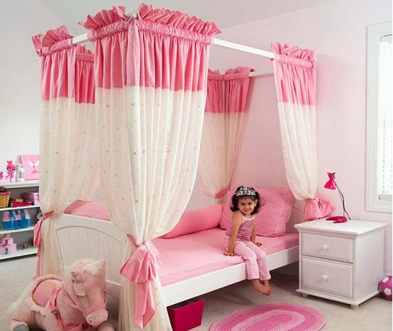 Baby Girl Room Interior Design Colorful Pink Color Part 37