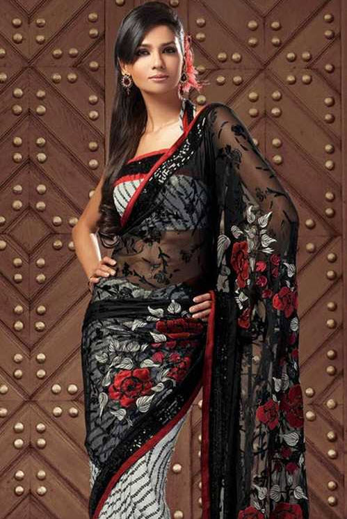 black-color-indian-saree-design-2012