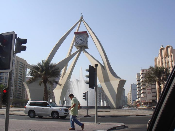 clock-round-about-dubai