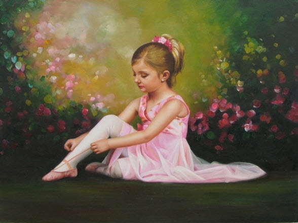 cute-baby-girl-painting