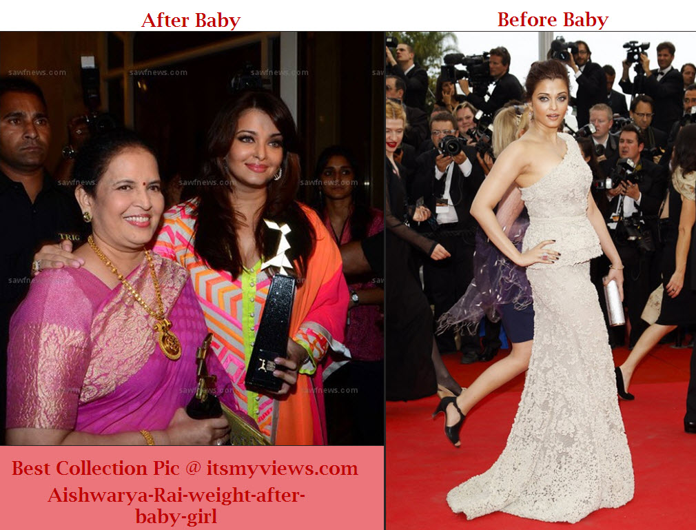 Aishwarya-Rai-weight-after-and before-baby-girl