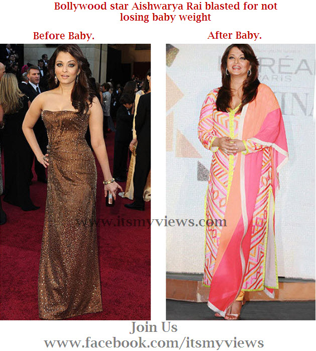 Aishwarya-Rai-weight comparison before and after baby Girl ...