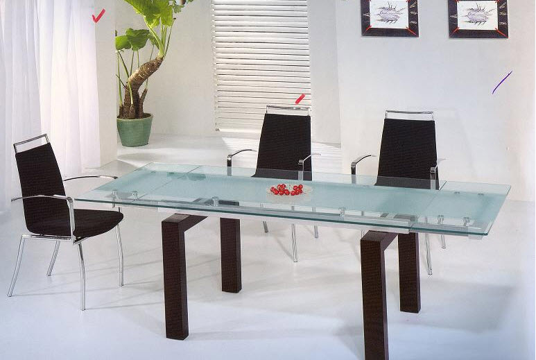 Latest Glass Dining Table Designs 2016 itsmyviewscom : Dining Table design for small space from itsmyviews.com size 773 x 519 jpeg 66kB