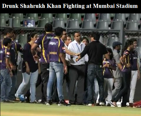 Drunk-Shahrukh-Khan-IPL-Match-2012 Fight