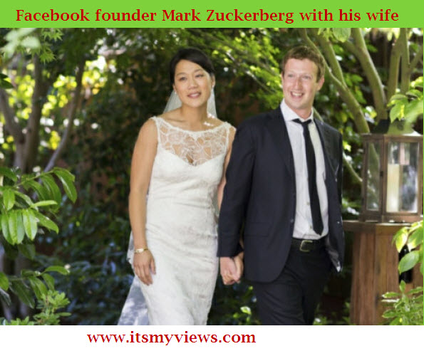 Facebook-founder-Mark-Zuckerberg-wedding-picture-with-his-wife