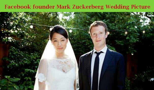Facebook-owner-Mark-Zuckerberg-wedding-picture-with-his-wife