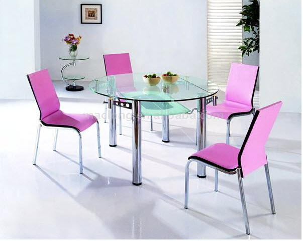 Glass-round-dining-Table-design