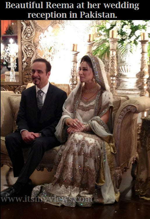 Reema-khan-at-her-wedding-reception-in-Pakistan-26-may Lahore.
