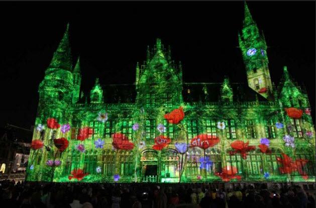 belgium ghent light festival 2012