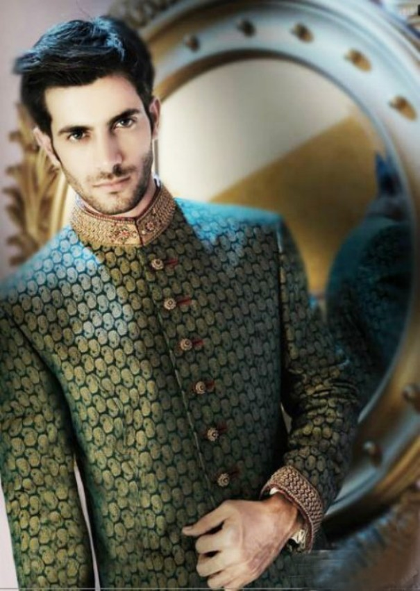 groom-sherwani-designs-green-color