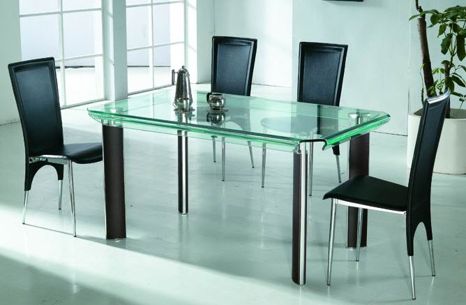Stylish Glass Dining Table And Chair Design